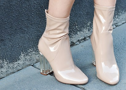 Perspex heel booties may be intimidating at first, but if you pair them with the right pieces, they make an adorable outfit. Check out how I style mine!