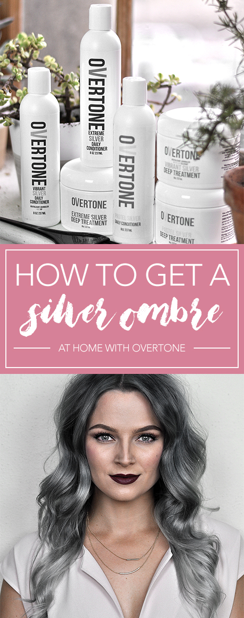 Check out this tutorial to learn how to get that perfect silver ombre hair at home with oVertone! It's a DIY ombre made easy. LOVE this hair color!