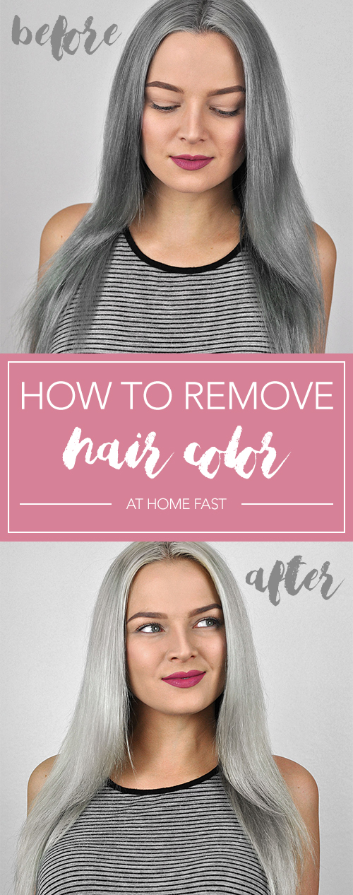 How to Remove Hair Color at Home Fast | MayaLaMode