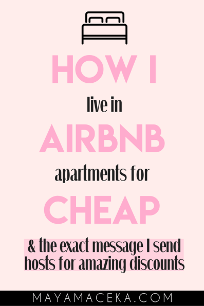 living in airbnb apartments