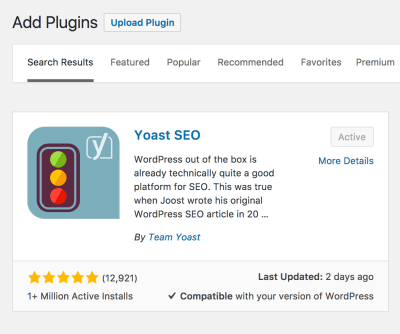 how to download Yoast on WordPress