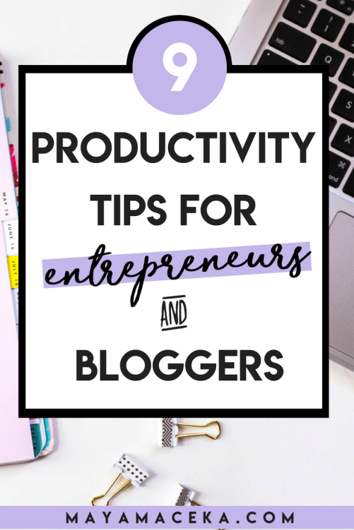 Wondering how to be a productive blogger or entrepreneur? I've rounded up my best focus, tips and organization tips for bloggers in this guide! #productivity #organization