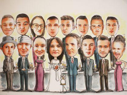 grupna karikatura poklon za vjencanje