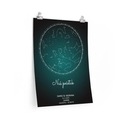 crno zelena zvjezdana karta