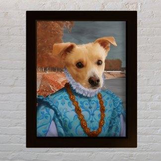 personalizirani portret kućnog ljubimca gospodin pas aristokrat