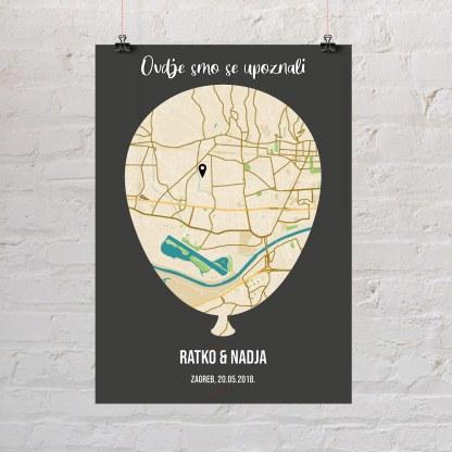 balon karta grada