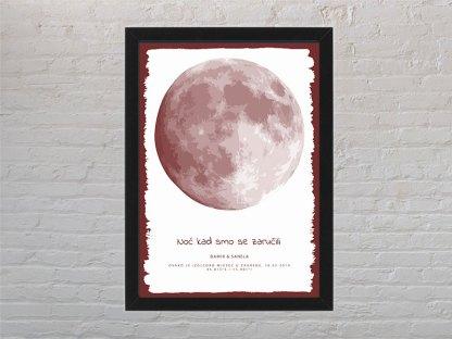 crvena i bijela mjesečeva mijena