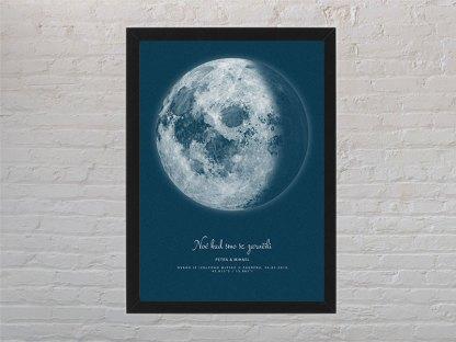 plave mjesečeve mijene za poklon za vjenčanje poster s okvirom
