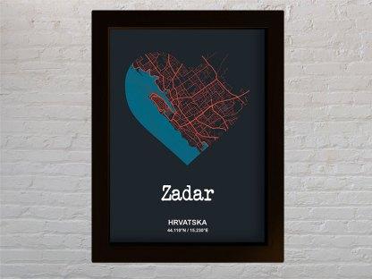 ZADAR Srce karta grada