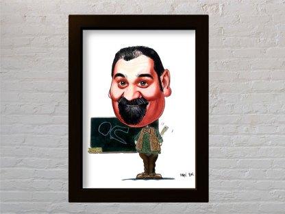 željko pervan portret karikatura