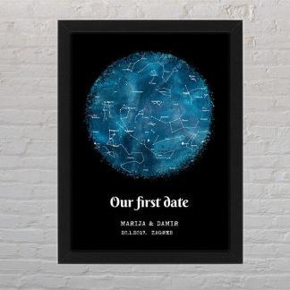 zvjezdana mapa poster i okvir poklon