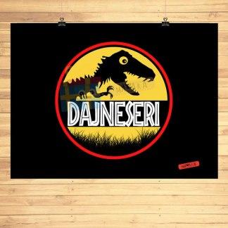 dajneseri poster s dinosaurom