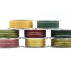 organza gold metallic lines ribbon