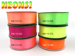 neon double face satin ribbons