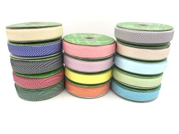 "3/4"" chevron twill ribbons"