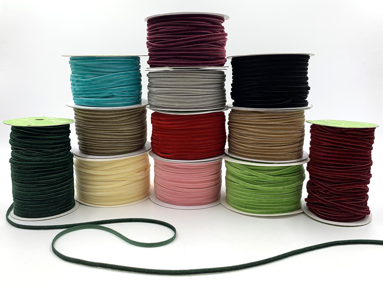 1//8 inch Velvet Ribbon Purple 389-18-47 5 yds. May Arts