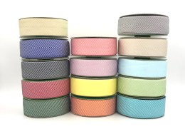 "1.5"" chevron twill ribbons"