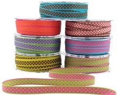 Reversible Polka Dot Woven Ribbon