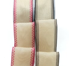 Wired Checkered Edge Ribbons
