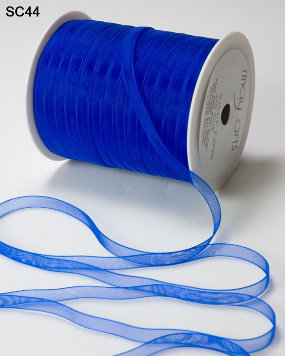 Purple May Arts 5 Yards 1//4 Inch Sheer Ribbon SC07