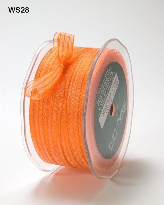 """Silver//Grey 100 yds May Arts WS31 3//8/"""" Sheer Iridescent Pinstripe Ribbon"""