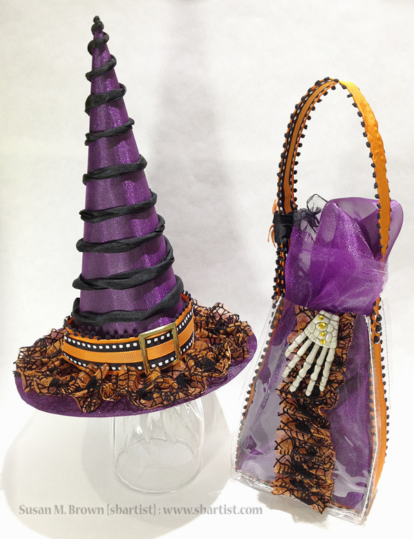 Altered Witches Hat & Purse
