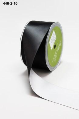 Reversible Black Satin Ribbon