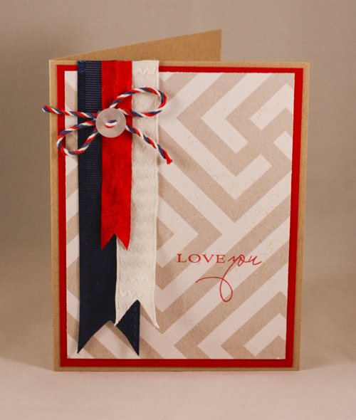 Red, White & Blue Card: Love You