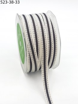 Brown Color Band Cotton Ribbon
