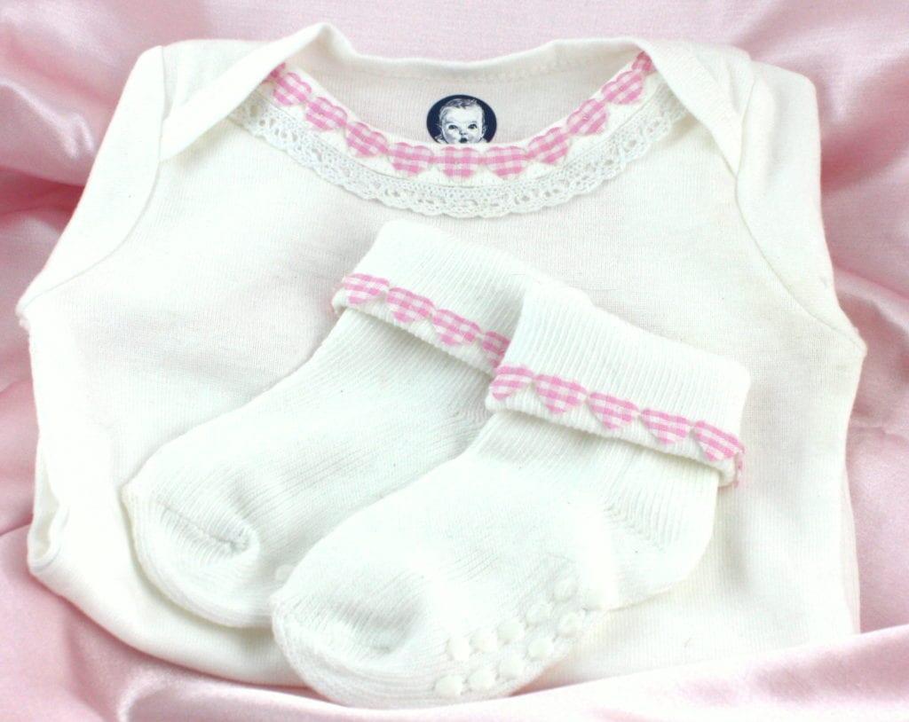 Dressed Up Baby Girl Onsie