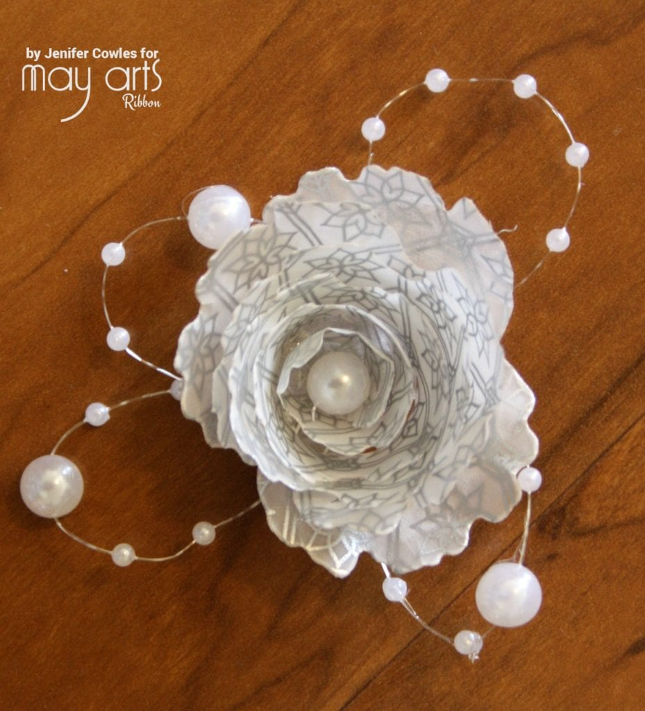 Make a Paper Flower with Pearl Accent