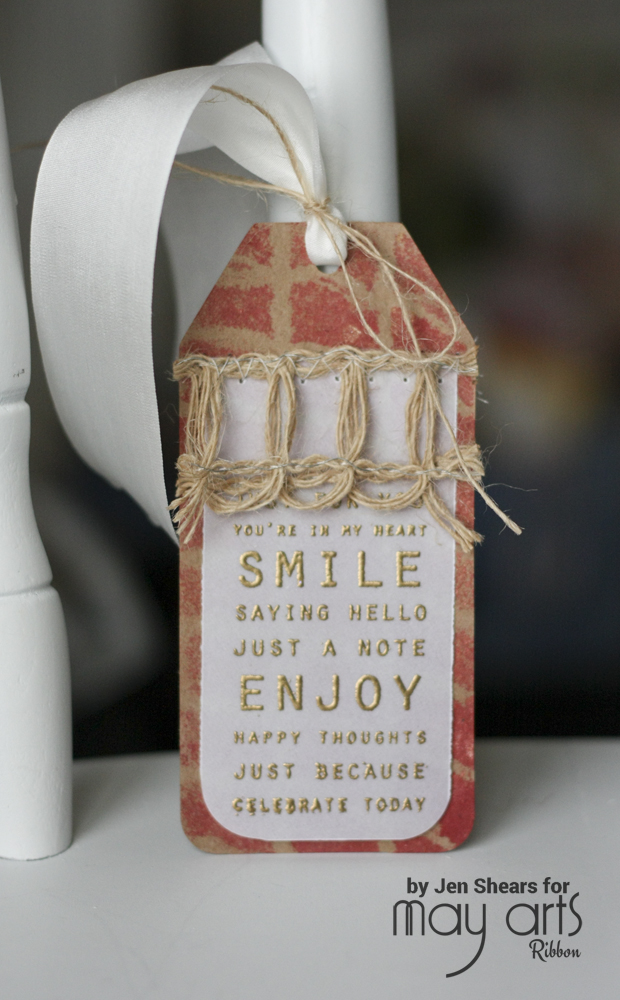 Using Burlap on a Gift Tag