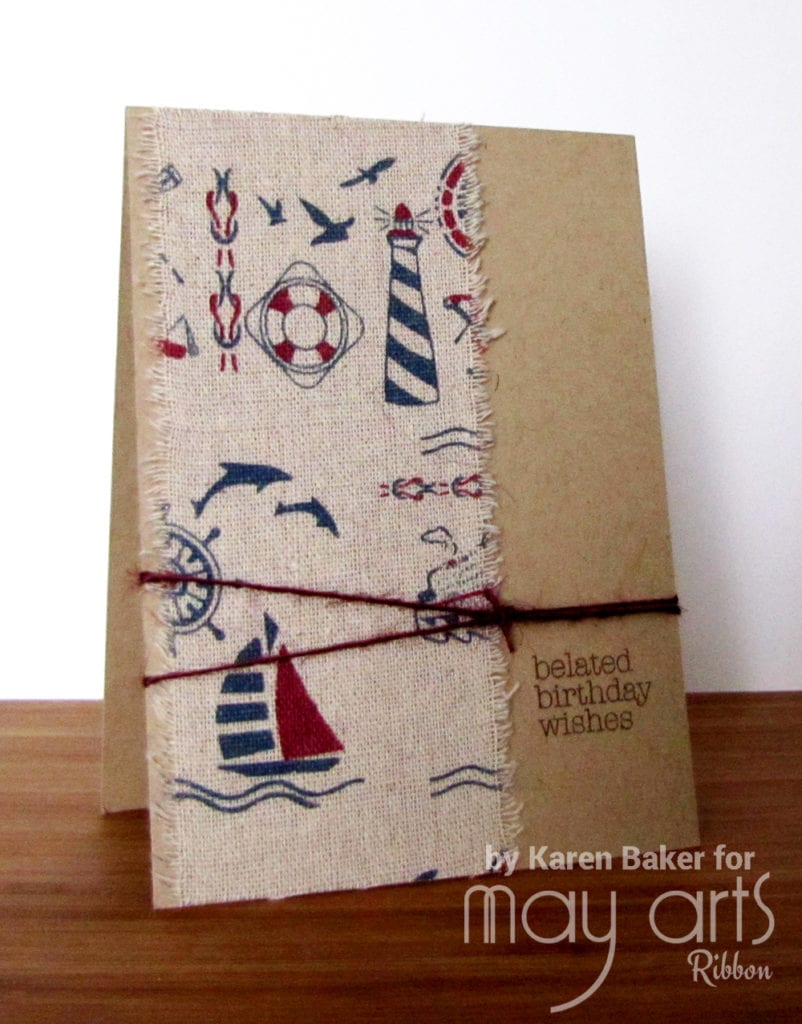 Nautical Card - Using Wide Ribbon on Cards
