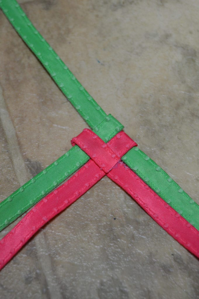 Make a Chevron Braid with Ribbon