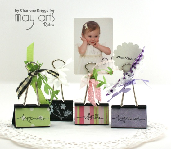 Using Ribbon Scraps to Create a Photo Holder