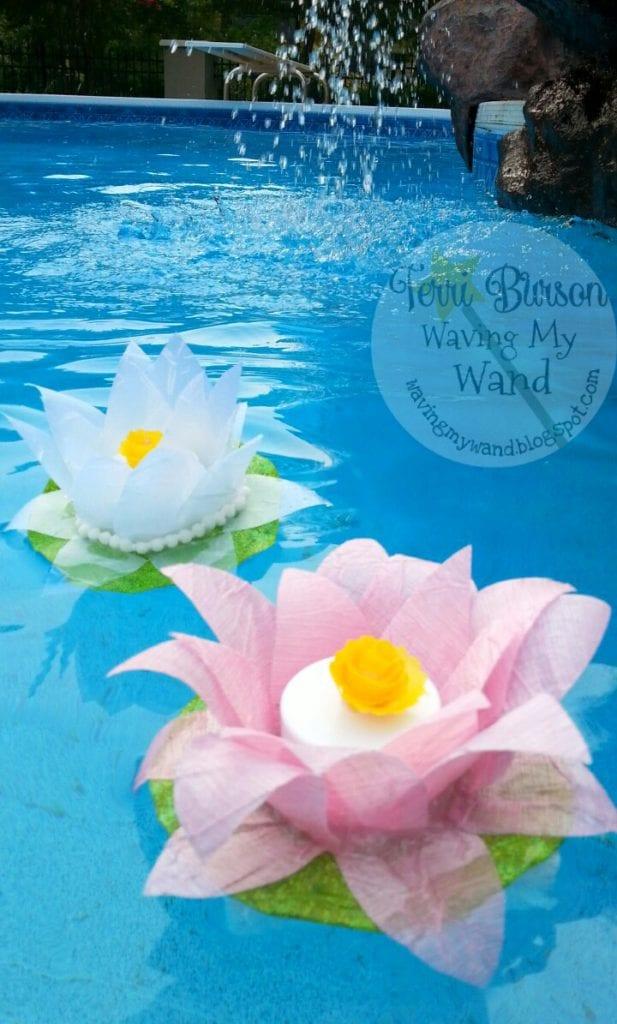 Floating Lotus Flower Ribbon Lights