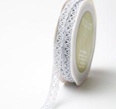 Silver Metallic Crochet