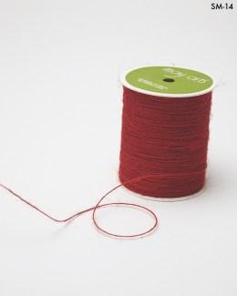 red burlap string jute cord