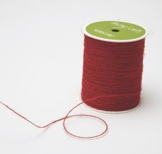 red burlap string jute cord