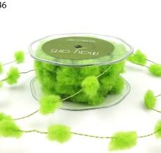 lime green fuzzy pom poms