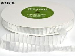 White Pleated Satin Ribbon