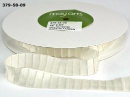 Ivory Pleated Satin Ribbon