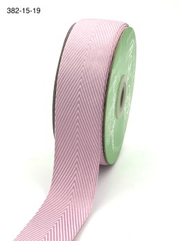 mauve and white chevron twill ribbon