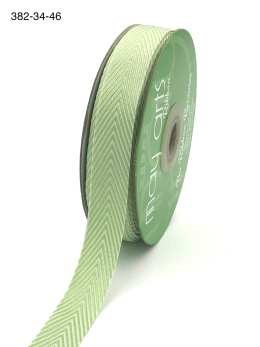 parrot green and white chevron twill ribbon