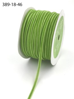 thin parrot green velvet ribbon