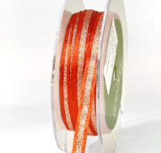 Bittersweet and silver metallic ribbon