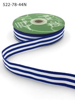 royal blue and white striped grosgrain ribbon