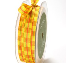 Yellow Gingham Ribbon