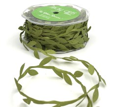 olive green leaf ribbon