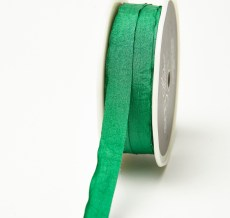 Green Solid Wrinkle Ribbon